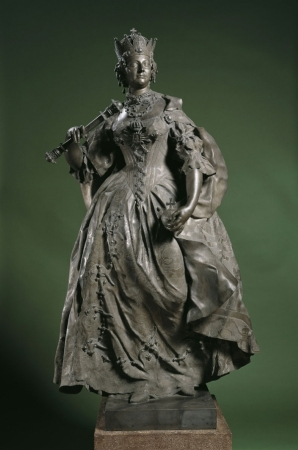 "Franz Xaver Messerschmidt Maria Teresa d'Asburgo; Lo scultore alternava le teste di carattere a una produzione palstica ""normale"""