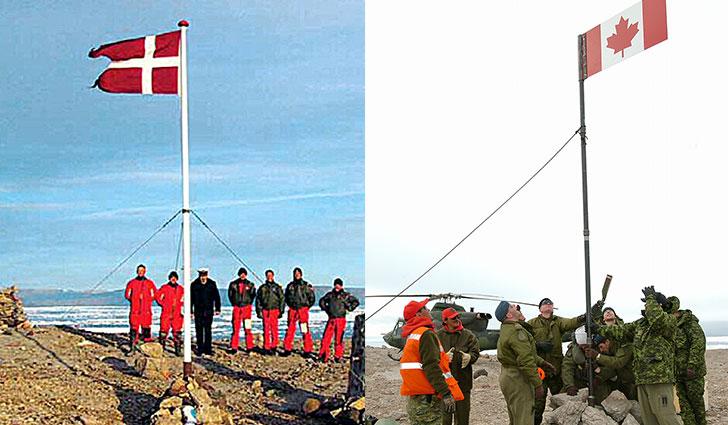 La contesa territoriale tra Danimarca e Canada per Hans Island