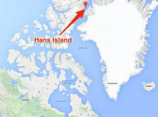 La posizione di Hans Island